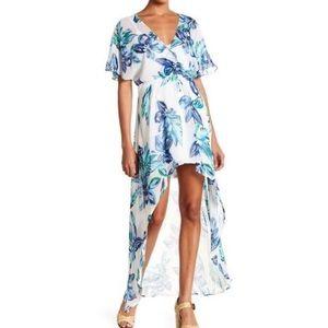 Lush Hi-Lo Sheer Dress